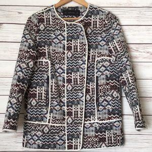 Zara Women's Aztec print jacket M